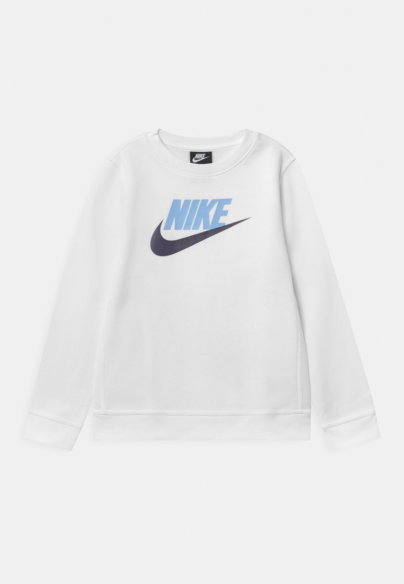 Nike Sportswear - CLUB CREW - Sweatshirt - white/psychic blue