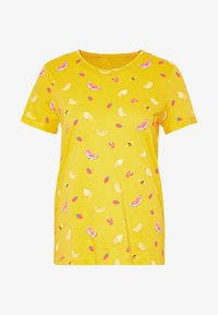 CREW NECK - T-shirt con stampa - yellow