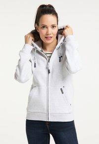 Schmuddelwedda - Zip-up hoodie - wollweiss melange - 0
