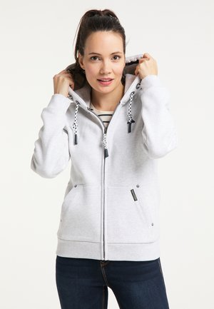 Zip-up hoodie - wollweiss melange