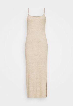 Korte jurk - beige mélange