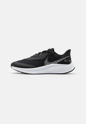 QUEST 3 SHIELD - Neutral running shoes - black/metallic silver/offnoir/white