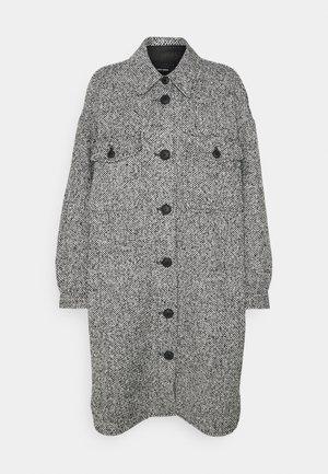 VMROSIE LONG SHIRT COAT - Classic coat - black/white melange