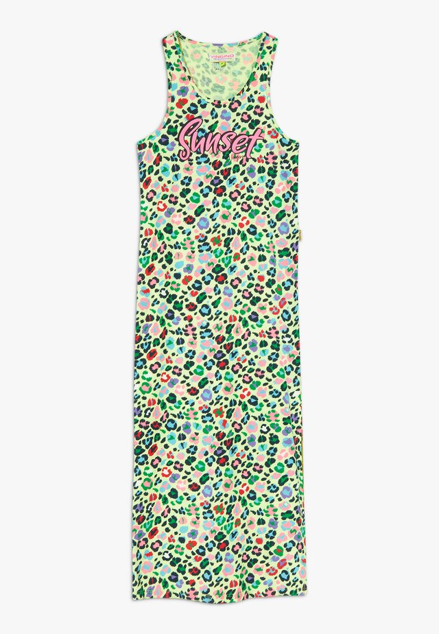 PILAINE - Jersey dress - neon lime