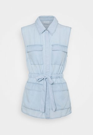 VITAYLOR RUPI WAISTCOAT - Vesta - light blue denim