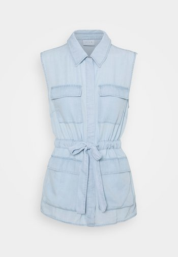 VITAYLOR RUPI WAISTCOAT - Waistcoat - light blue denim