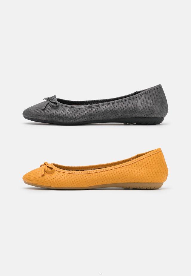 2 PACK - Bailarinas - black/yellow