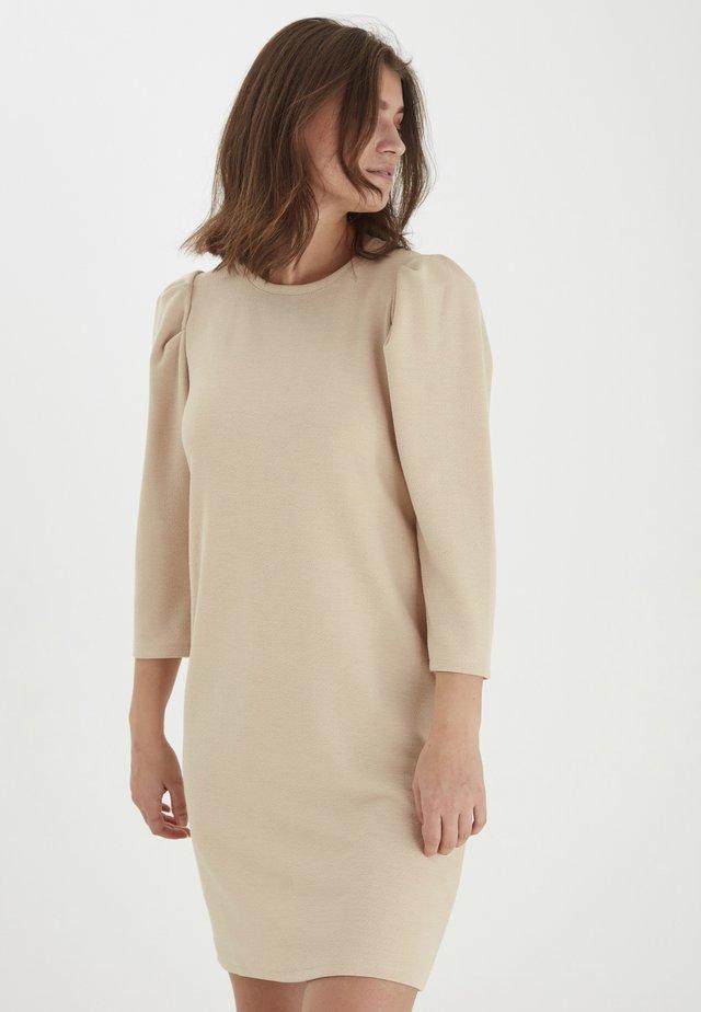 Sukienka z dżerseju - cement melange