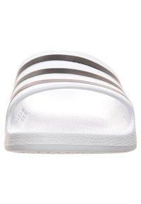 adidas Performance - AQUA ADILETTE - Pool slides - white/black - 6