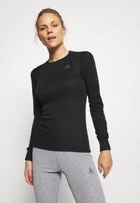 ODLO - CREW NECK ACTIVE WARM - Unterhemd/-shirt - black - 0
