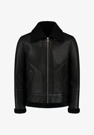 THE HUNTER SHORT SHEARLING LAMMY - Leather jacket - black