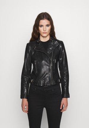 FEYOSHI JACKET - Leather jacket - black