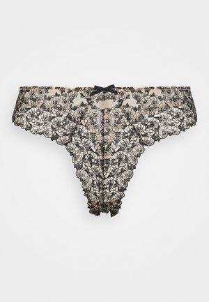 SKULL CURVE  - Thong - cream/black