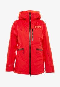 Helly Hansen - KVITEGGA SHELL JACKET - Snowboardjakke - alert red - 4