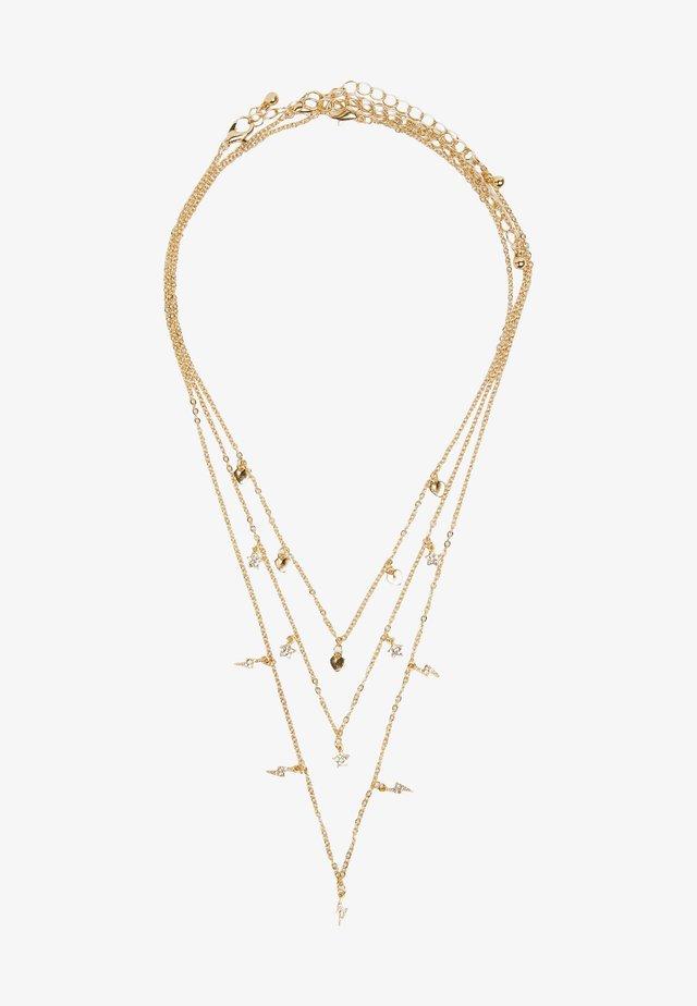 MIT PERLENBESATZ - Necklace - gold