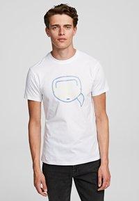 KARL LAGERFELD - Print T-shirt - White - 0