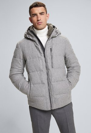 Winter jacket - mittelgrau gemustert