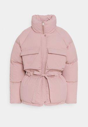 GATHERED WAIST POCKET PUFFER - Vinterjakke - pink