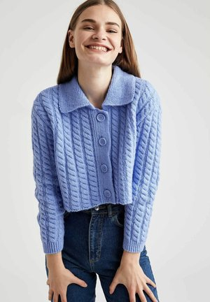 Strickjacke - blue