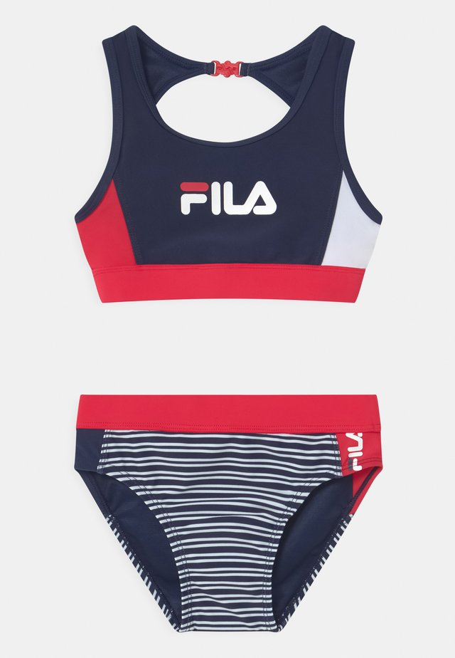 AMELIE BEACHWEAR SET - Bikiny - black iris/true red/bright white