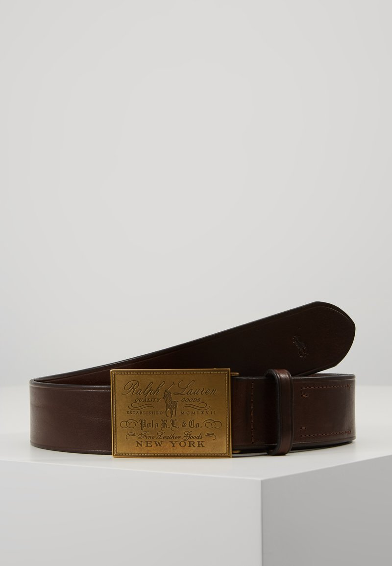 Polo Ralph Lauren - PLO HRTG BLT-CASUAL-SMOOTH LEATHER - Belt - brown