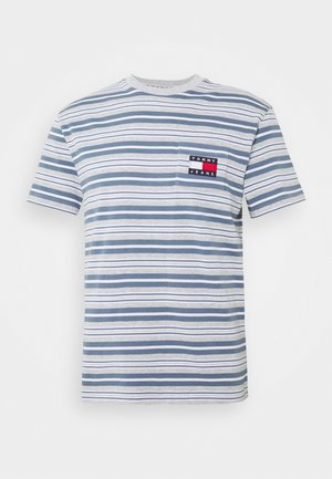 STRIPE POCKET TEE - T-shirts med print - light grey stripe