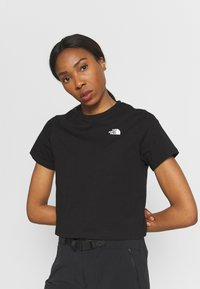 The North Face - FOUNDATION CROP TEE - T-shirts - black - 3