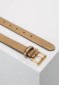 Lauren Ralph Lauren - BELT WITH SCULPTED - Belt - deep bronze - 2