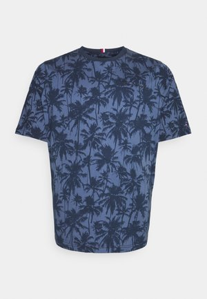 ALL OVER PRINT TEE - T-shirt med print - faded indigo