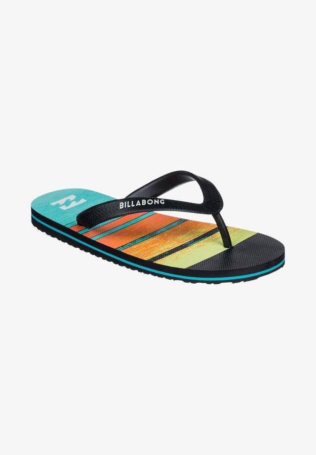 TIDES PRINT - T-bar sandals - blue
