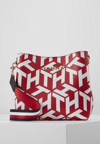 Tommy Hilfiger - ICONIC CROSSOVER MONO - Across body bag - red - 0