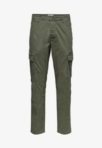Only & Sons - CARGOHOSE REGULAR FIT - Cargo trousers - forest night - 0