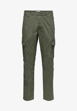 CARGOHOSE REGULAR FIT - Cargo trousers - forest night