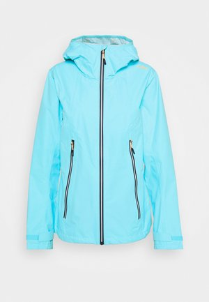 WOMAN FIX HOOD JACKET - Hardshell jacket - pool