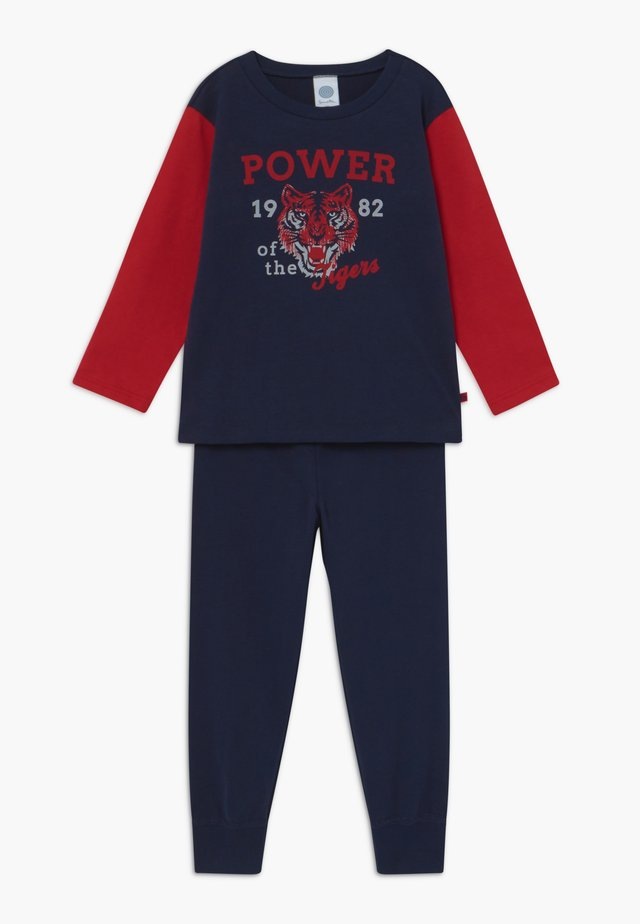 KIDS PYJAMA LONG - Yöasusetti - nordic blue