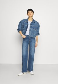 Anna Field - Long sleeved top - light blue/white - 1