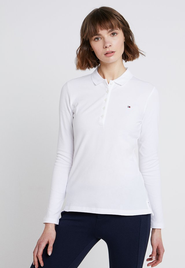 HERITAGE LONG SLEEVE SLIM  - Polo shirt - classic white