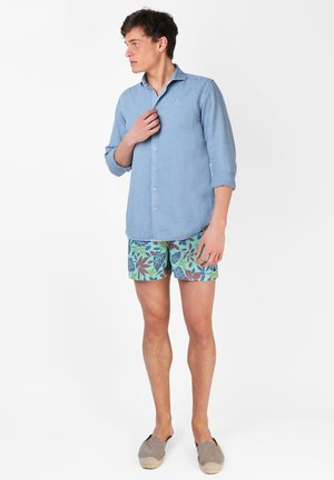 FLOWERS - Badeshorts - green
