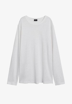 T-SHIRT 100 % LIN IMPEGA - Long sleeved top - blanc