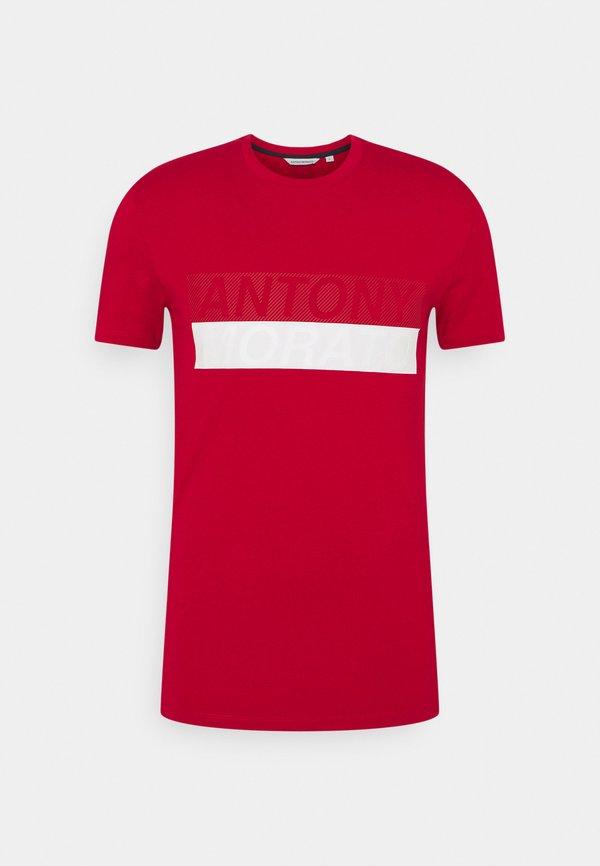 Antony Morato SLIM FIT - T-shirt z nadrukiem - peperoncino/czerwony Odzież Męska VZRO