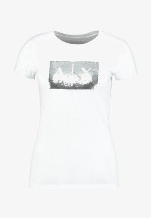 Print T-shirt - white ground