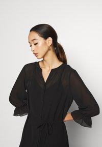 Vila - VIASTRID BUTTON TIE BELT DRESS - Maxi dress - black - 3