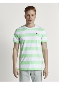 TOM TAILOR DENIM - Print T-shirt - mint block - 0