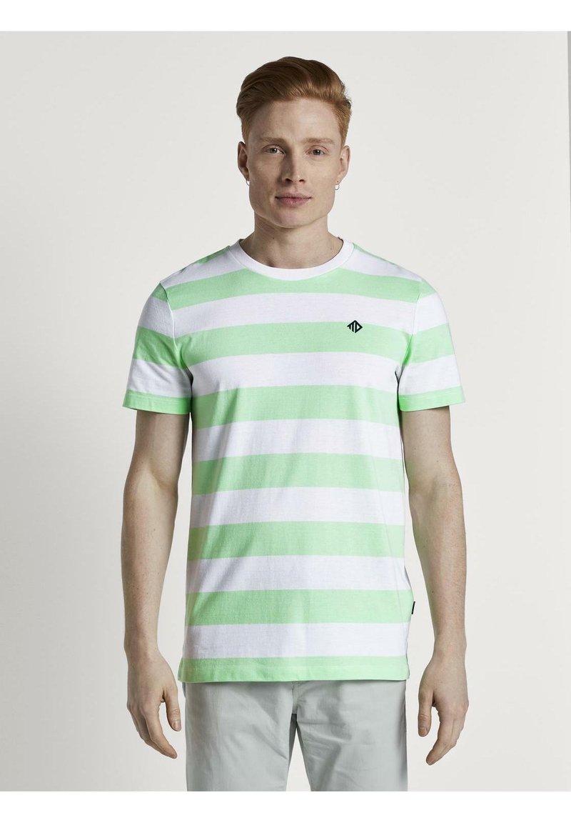 TOM TAILOR DENIM - Print T-shirt - mint block