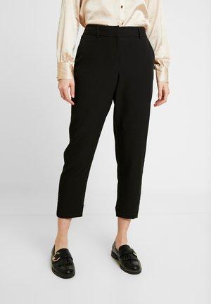 BEADED TRIM TAPERED TROUSER - Pantalones - black