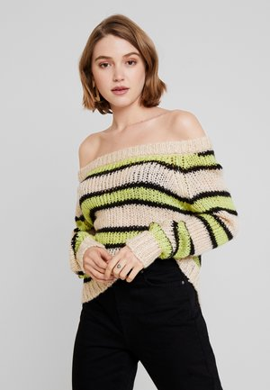 Jumper - black,white,green