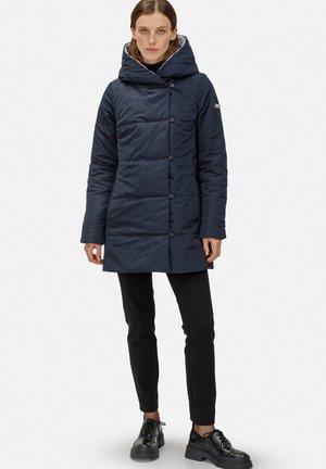 Winter coat - schwarz silber