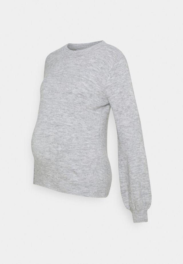 PCMPERLA - Strikkegenser - light grey melange