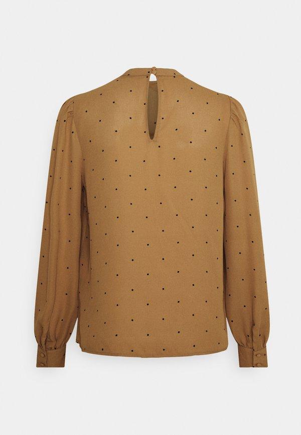 Vero Moda VMMARLEY - Bluzka z długim rękawem - tobacco brown/black/ciemnobrązowy LPBM