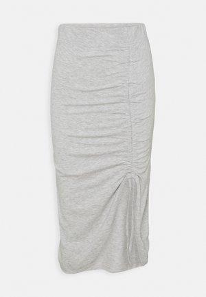 PCNEORA STRING  SKIRT   - Pencil skirt - light grey melange
